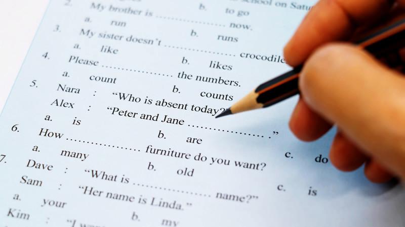 英語の試験の種類は?