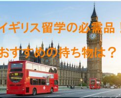 イギリス留学の必需品! おすすめの持ち物は?